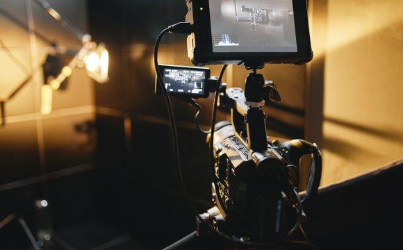 studio de vidéo professionnelle avec caméra